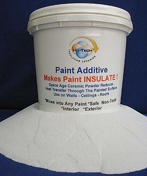 insulating ceramic powder for mixing into paint to make the paint insulate